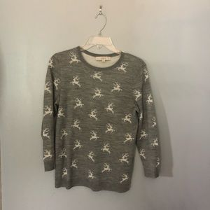 Loft Reindeer gray sweater M